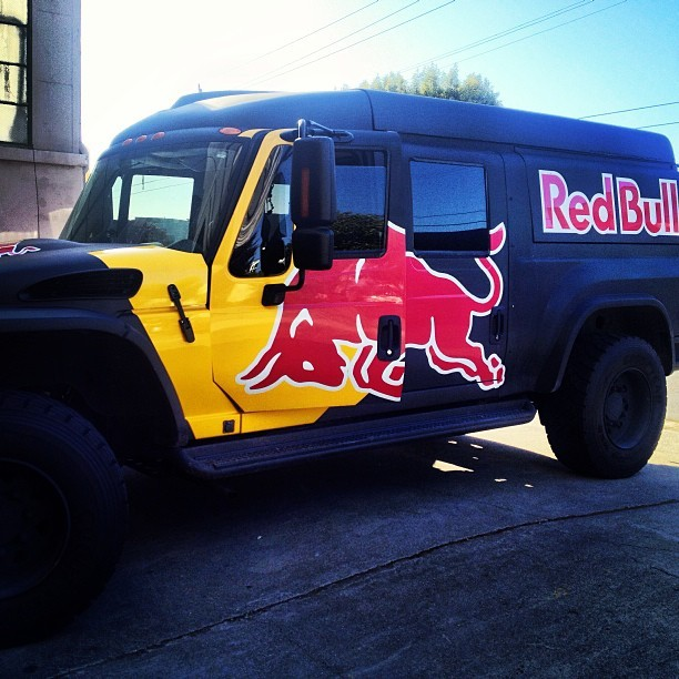 Thanks to our great neighbors @redbullsfo for stopping by the shop and fueling us up! #MXT #aroundtheoffice @redbull  (at Revolights Shop)