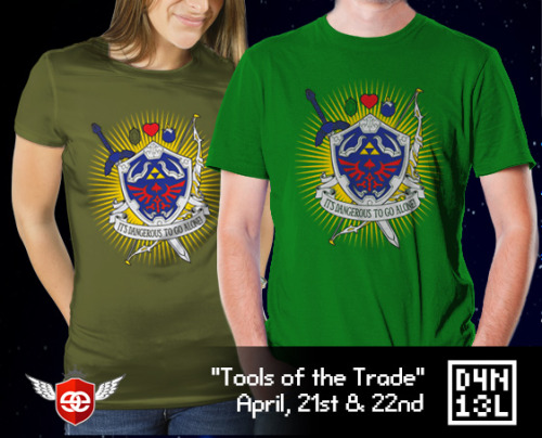 """Tools of the Trade"" by D4N13L It's dangerous to go alone! Take this tee! Take it, take it NOW!! Available today and tomorrow at EpicEmbrace."