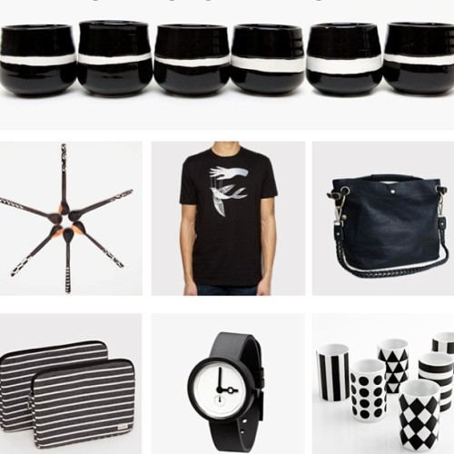 We are in the mood for monochrome…  (at www.poketo.com)