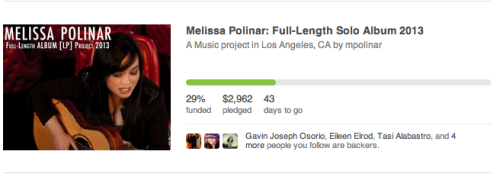 Almost 30% folks. :)  If you haven't checked it out, please do. I'm looking forward to creating this album. And even if you can't pledge towards this, just reblog, FB, Twitter, and etc… Any help to spread the word about this, I would be truly grateful.  link here:http://kck.st/Uyh2Rohttp://kck.st/Uyh2Rohttp://kck.st/Uyh2Rohttp://kck.st/Uyh2Ro