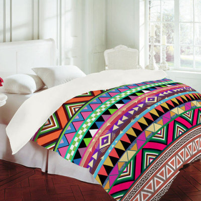 shopecia:  Check out this funky Aztec-style duvet cover from DENY Designs