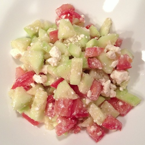 Reveling in a fresh, homemade Greek salad for dinner tonight.