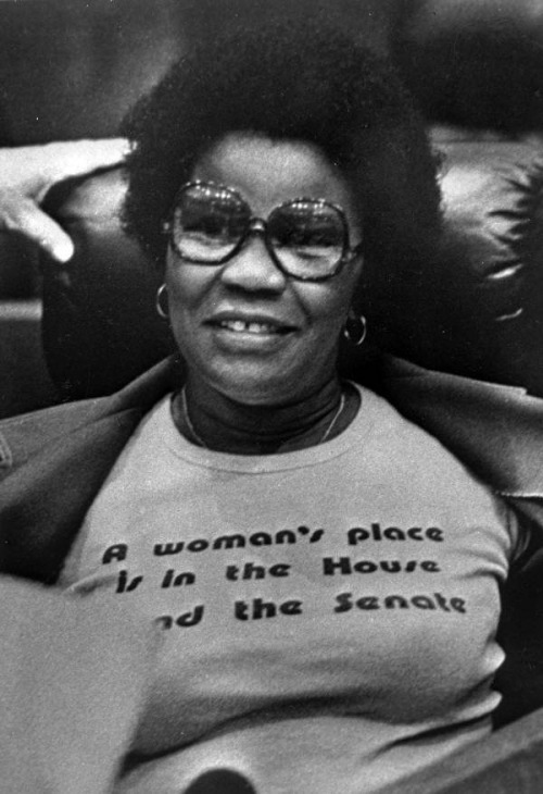 specialnights:  Carrie Meek wore this prophetic t-shirt in the House chamber. She was later elected to the Senate and then to the U.S. Congress. Meek was the first African American women to be elected to the Florida senate. She was a 1992 Florida Women's Hall of Fame inductee.