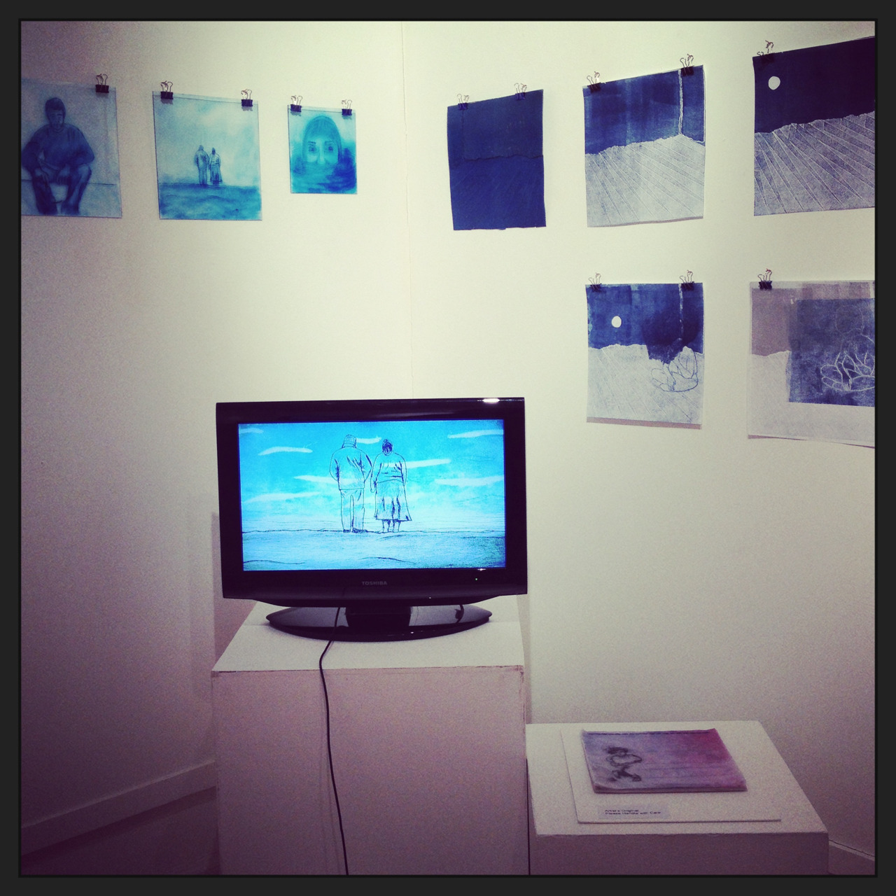 My print/animations at Thelma Hulbert Gallery Jan-March 2013 w/ @cathcartwright