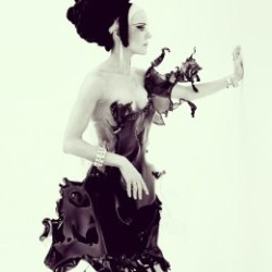 Absolutely amazing. Iris van Herpen's Crystallization dress (via Fashion Forward: Boundary-Pushing Designer Iris van Herpen's Latest Creation | TIME.com)