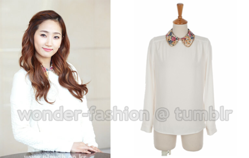 2fb, Gold fline floral blouse ₩33,800 via 2fb