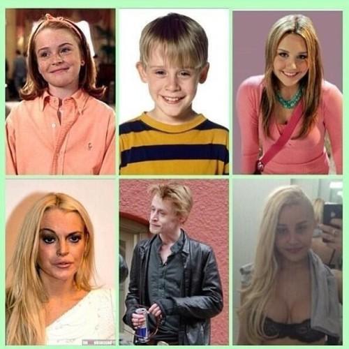 What a shame #WTF #WhatsHappened #ChildhoodRuined #AmandaBynes #LindsayLohan #MacaulayCulkin