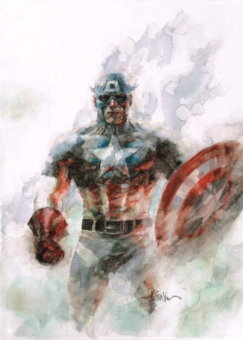 iamalfff:  (via cap on canvas by ~leinilyu on deviantART)