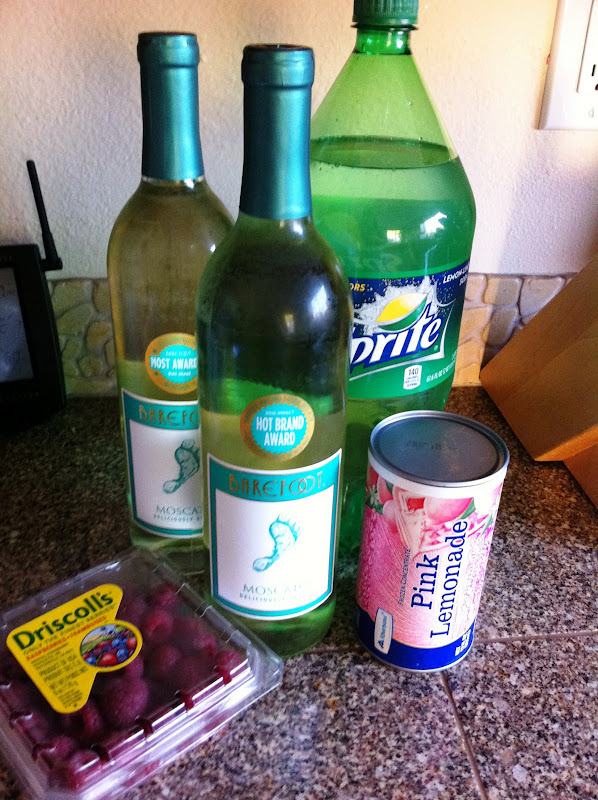 "nerddownand5:  itspartyrehab:  Sarasota LemonadeIngredients & Measurements: 2 bottles Moscato 1 can Pink Lemonade Concentrate 3 cups of Sprite Raspberries Instructions:Empty all of the liquid ingredients into a pitcher and stir. Then mash about half the raspberries and put them in.  Placed the rest of the raspberries in the glasses and serve it.  This should be called the ""Sweetheart Drake"" special."