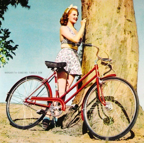 RITA HAYWORTH ADS  ↳ Schwinn, 1941