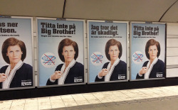 Final art and design for Big Brother Sweden 2012 outdoor billboard campaign. For design company Fireplace.