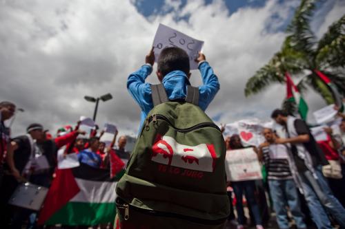 thomassobien:  Venezuelans show their solidarity with Palestine. Caracas, Venezuela. July 14, 2014. (Source)