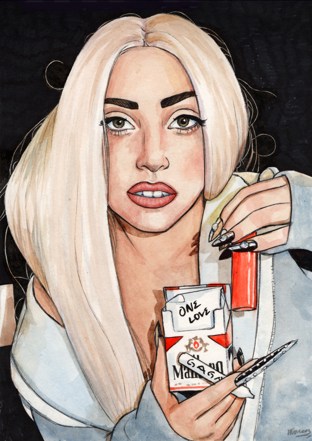dollychops:  Gaga, 'One Love'