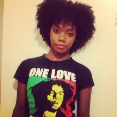 One Love. #Naturalhair Follow me:  Instagram- @theblackhairguru Twitter- @blackhairguru