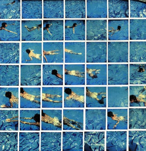 sulphuriclike:  David Hockney_Pool / Cameraworks_1984 [polaroid mosaic]