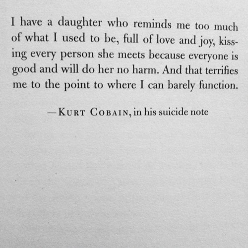 Kurt Cobain about his daughter - Frances Bean Cobain