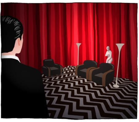 twinpeaksart:  Black Lodge, 1 of 5 : Coop by ~lilis-gallery