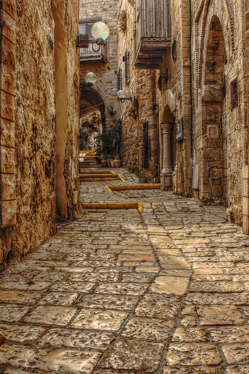 Medieval Street, Rhodes, Greece photo via hilary