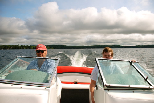 It's not cold. P: Pops and Ryan, Lake Sunapee, NH (2012)