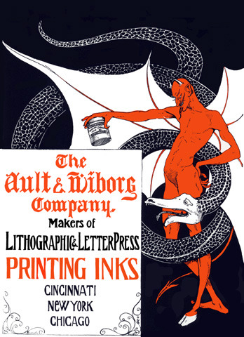 Ariane turned me onto this. The Ault & Wiborg Company, a manufacturer of printing inks and dry color dyes and pigments, was established in 1878 in Cincinnati, Ohio.