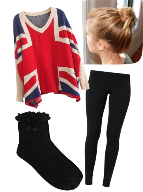 Untitled #320 by divergentdemigodtribute featuring a v neck sweaterV neck sweater / NIKE black legging, $51 / Oasis black socks, $5.05