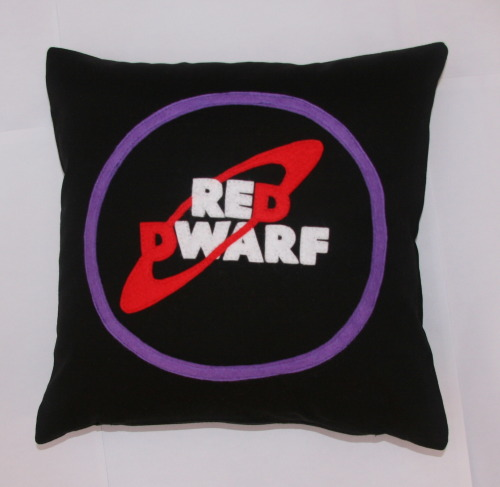 Custom Red Dwarf Cushion Felt on 100% Cotton