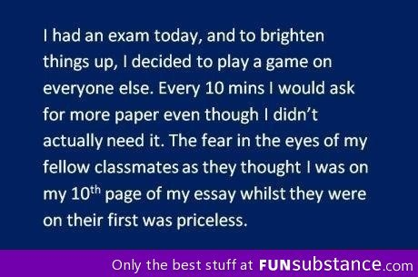 funsubstance:  When taking exams  LOL!