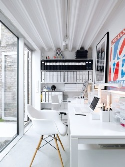 justthedesign:  White Home Office Space