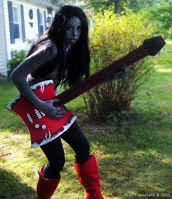 AT: Marceline and the Axe-Bass by ~Nickie-Woods Character: Marceline Series: Adventure Time