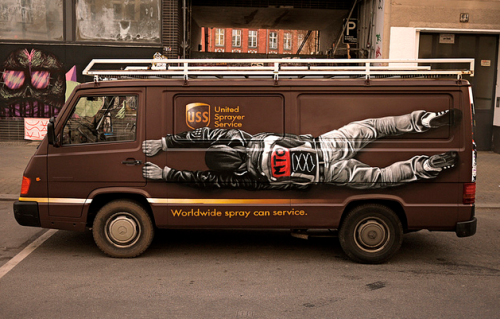 artwithsoul:  The United Sprayer Service van.