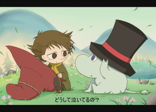 sarroora:  Snufkin and Moomintroll fanart by this artist