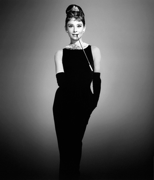 tymeshialashay:  Audrey Hepburn Little Black Dress