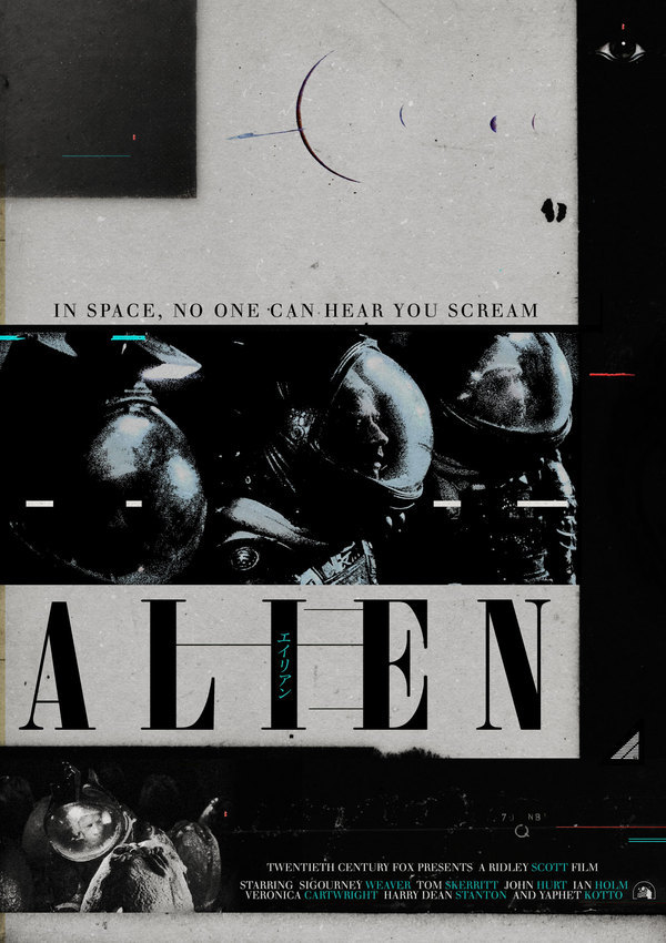 "sunrec:  ""Ridley Scott's Alien Film Poster Series"" by Midnight Marauder"