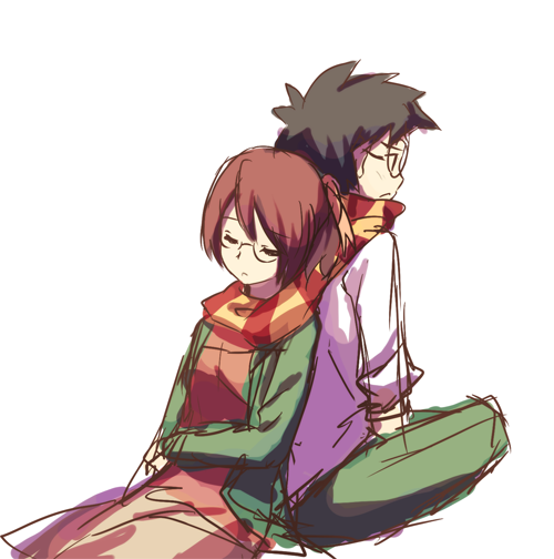 sokak:  setou kenji and shirakawa yuuko (katawa shoujo) drawn by weee (raemz) - Danbooru
