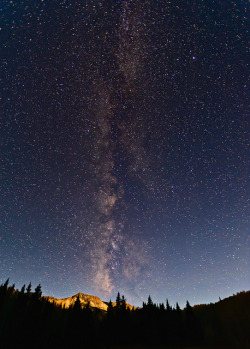 saeglopvr:  Milky Way Meets Moon on Kebler Pass by Fort Photo on Flickr.