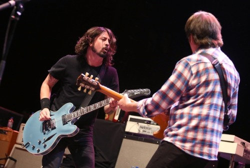 rollingstone:  Dave Grohl's merry band of rock superstars, the Sound City Players, will continue their string of national shows with a performance at SXSW in Austin, Texas on March 14th.  Grohl's also delivering the fest's keynote address.