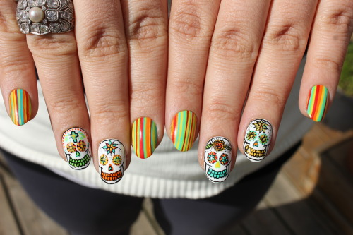 boomnails:  Sugar Skull Love