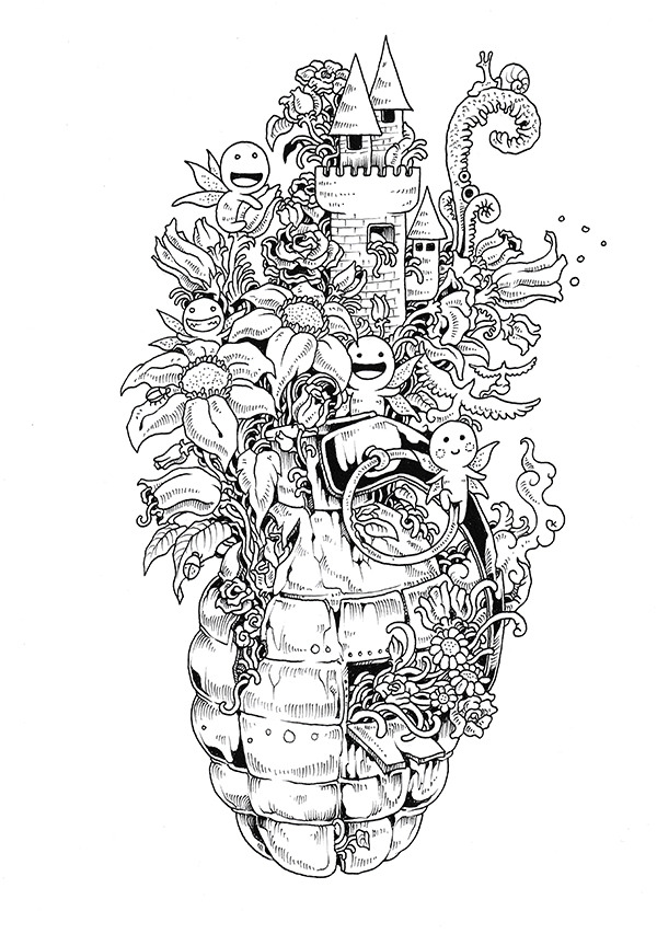 STILL ALIVE Doodle Invasion Coloring Book (part I) by Kerby...
