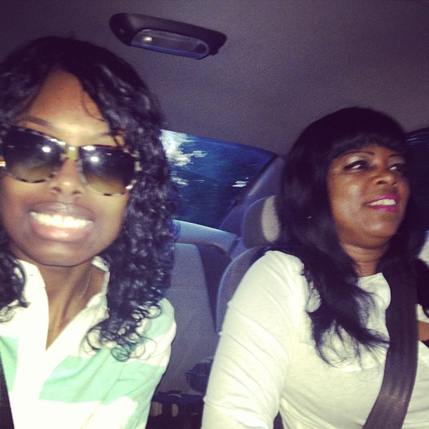 Riding with my old lady, but we in that new whip 😋 #HappyBirthdayMom 💘