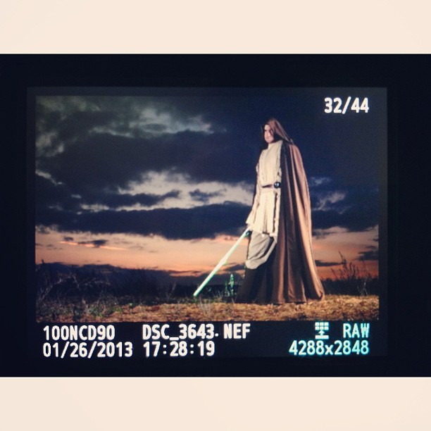 LCD screen cap of tonight's fun. #starwars #jedi #nikon #epic