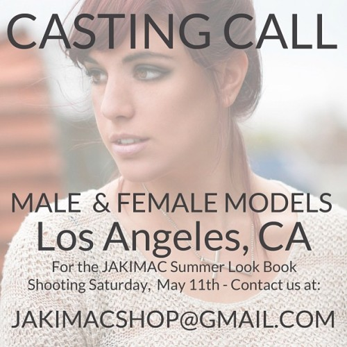 Be in our next LookBook! Send your headshots, preferably without Make-up, to jakimacshop@gmail.com! Shot by photographer @stephaniebassos.