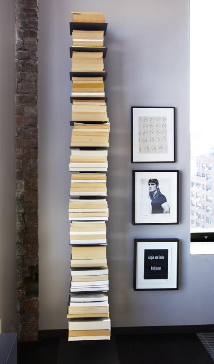 enochliew:  Sapien Bookcase by Design Within Reach Home of Pulitzer Prize-winning author Michael Cunningham.
