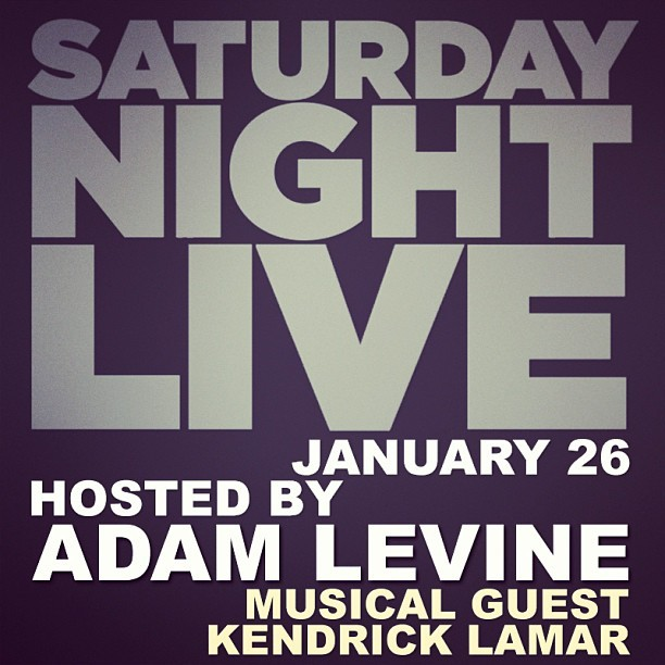 Adam Levine - .@adamlevine will make his hosting debut on #SNL on January 26th with musical guest @k