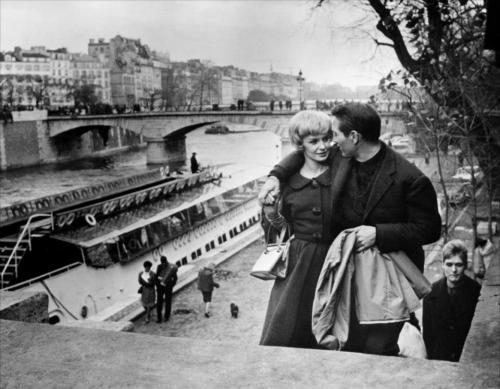 Joanne Woodward and Paul Newman in Paris, date unknown