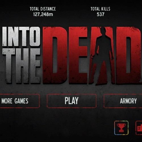 This game is #addicting but they cheat me sometimes! Lol #IntoTheDead #FunGame #CantStopPlaying!!
