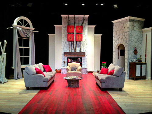 "tallahassee-little-theatre:  The finished set for TLT's ""God of Carnage.""  Set idea for GOD OF CARNAGE."