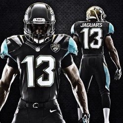 cbssports:  The Jaguars released new 'revolutionary' uniforms.