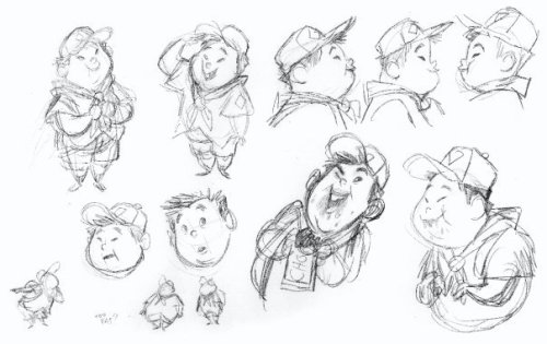 "disneypixar:  ""Up"" character art.   DUG OMG 💜"