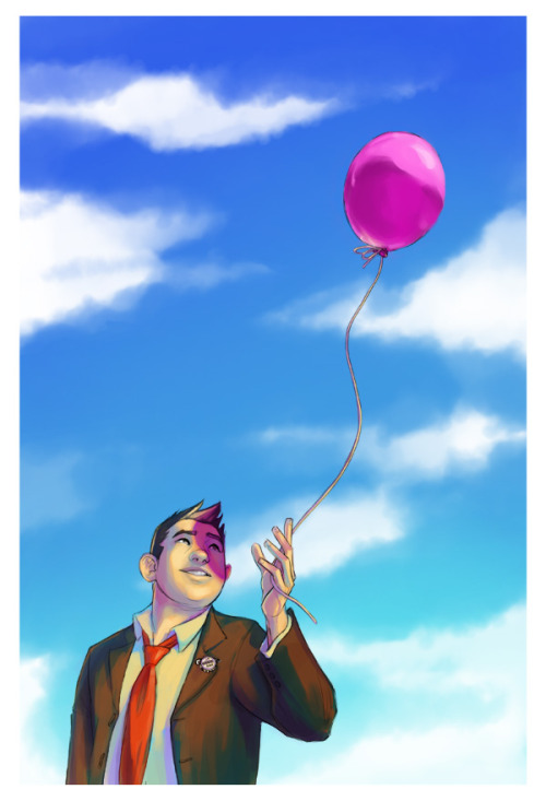 "kristalbabich:  ""It's Been An Adventure, Mr. Fredricksen.""Now in color. P.S. Thank you for all the reblogs and likes on the black and white version.  I've been enjoying all of the hilarious tags."
