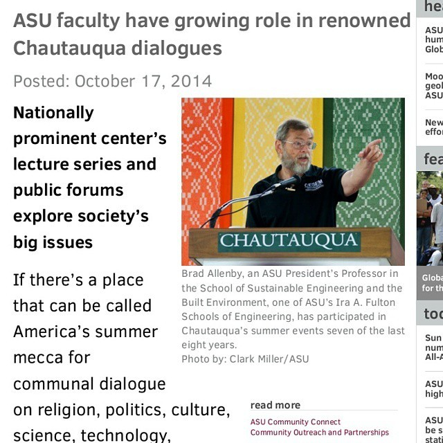 ASU Lincoln Professors have a growing role in Chautauqua dialogue. @asu @asunews #lincolnethics #ethics #privacy (at Arizona State University)